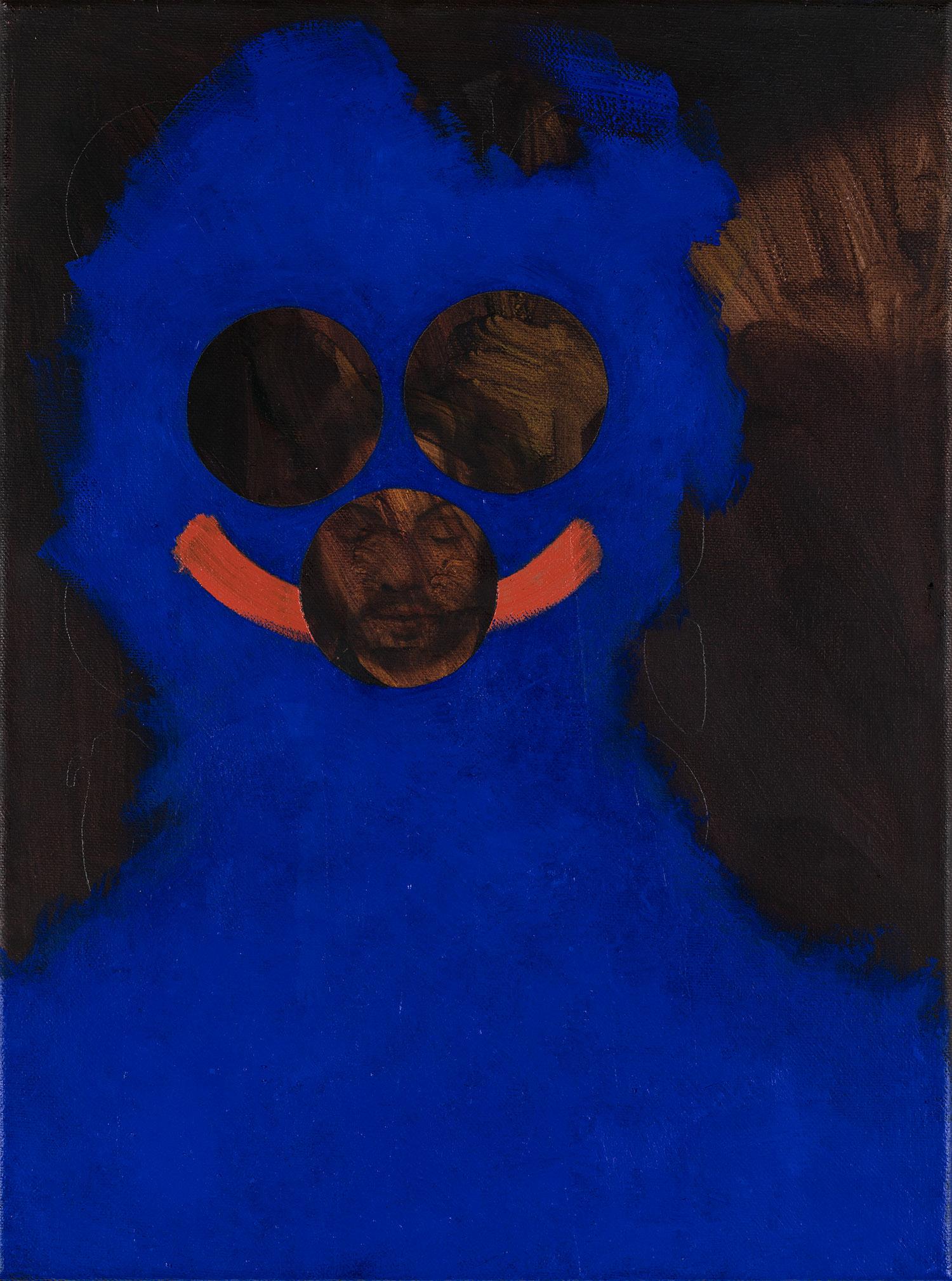 Mannnase  2017, 40 × 30 cm, Öl auf Nessel