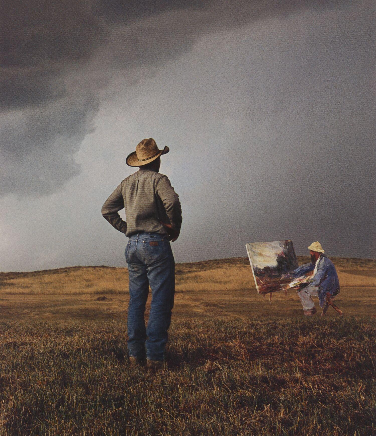 plein air  2004, 19,5 x 17 cm, Collage