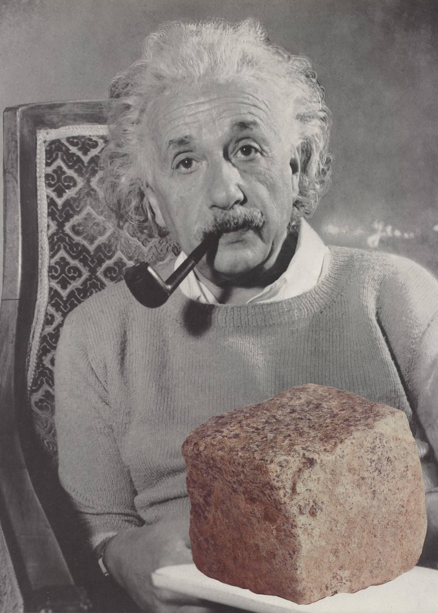 Ein Stein  2008, 27 x 18 cm, Collage