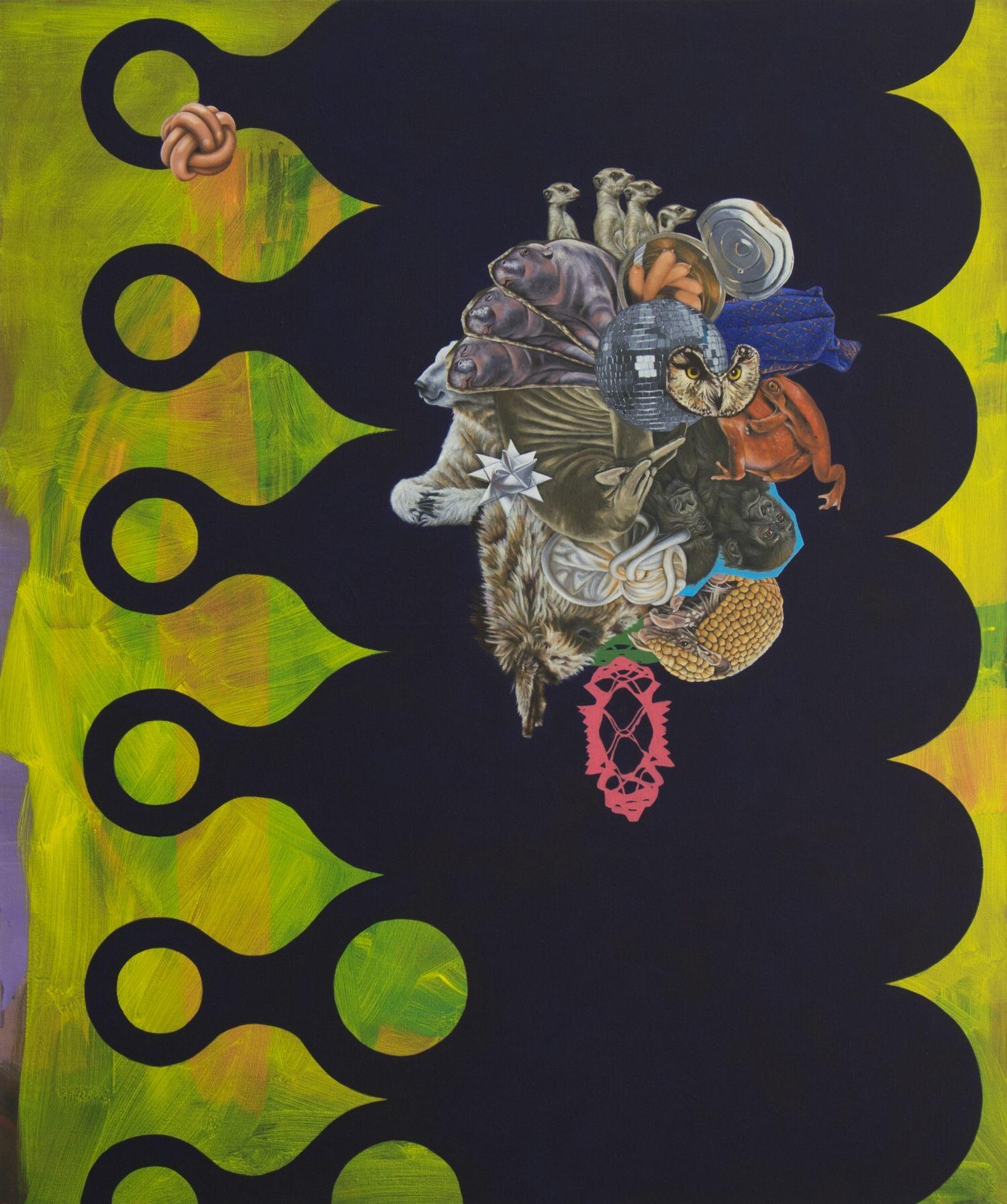 Refrain  2014, 110 × 94 cm, Öl auf Nessel