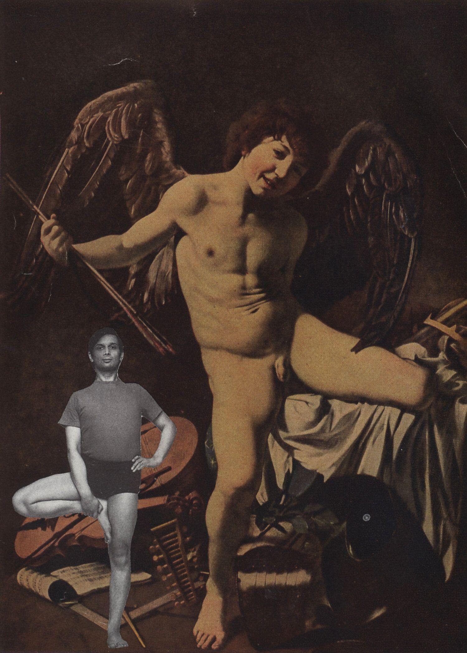 Zweibeiner  2008, 17 x 12 cm, Collage
