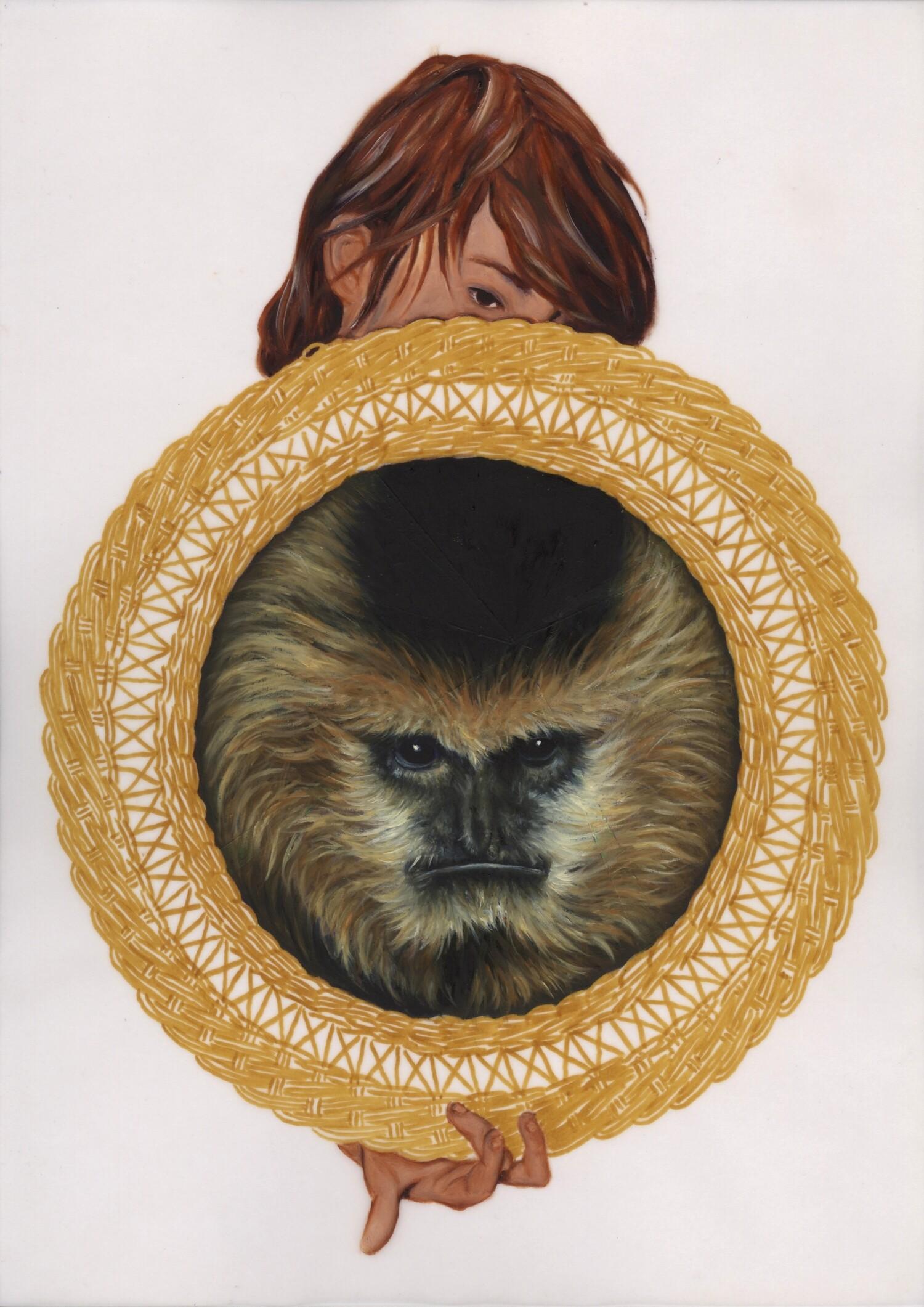 Vellum 02#2015, 29,7 x 21 cm, Öl auf Transparentpapier