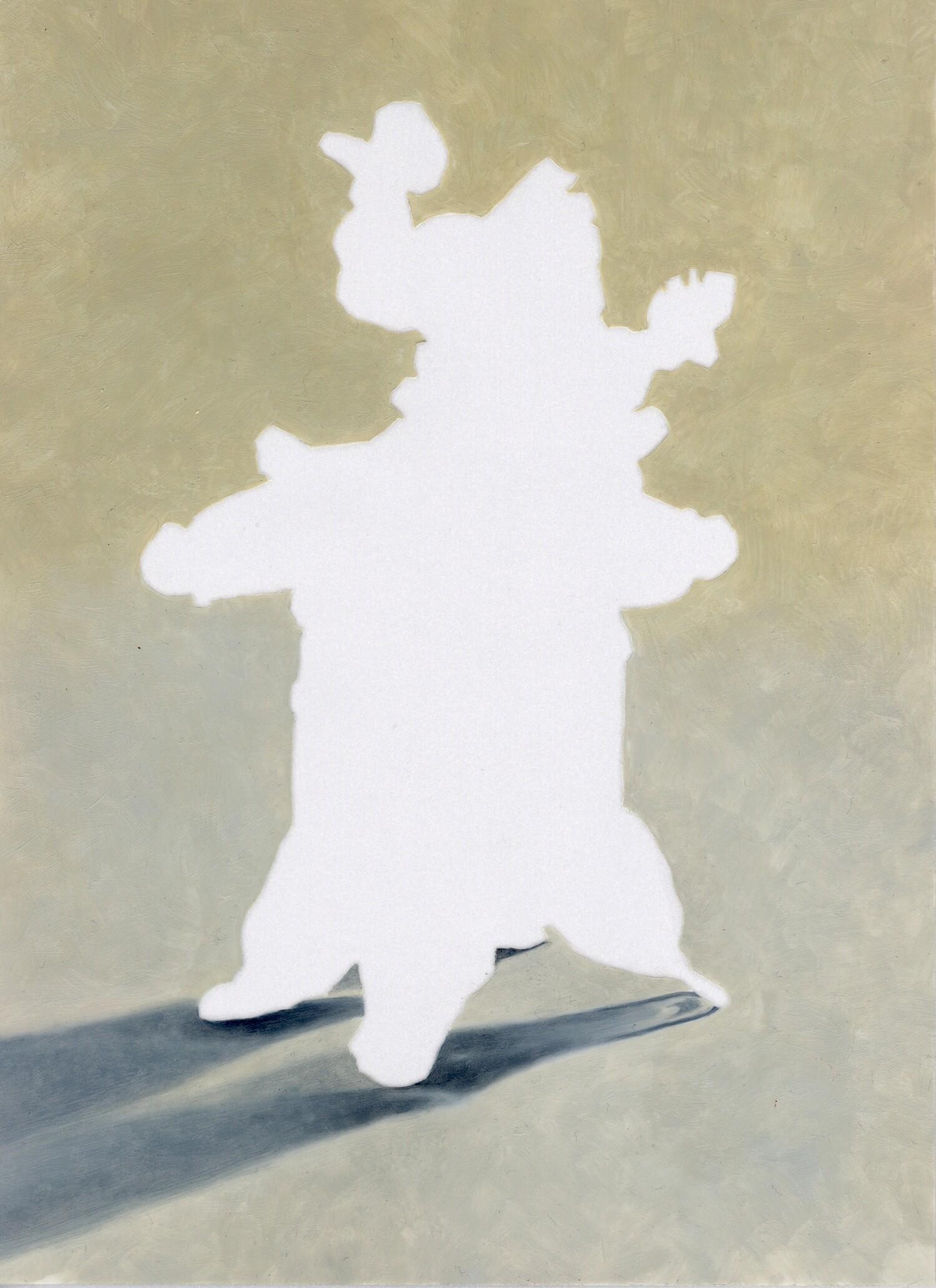 Vellum 11#2013, 29,7 x 21 cm, Öl auf Transparentpapier