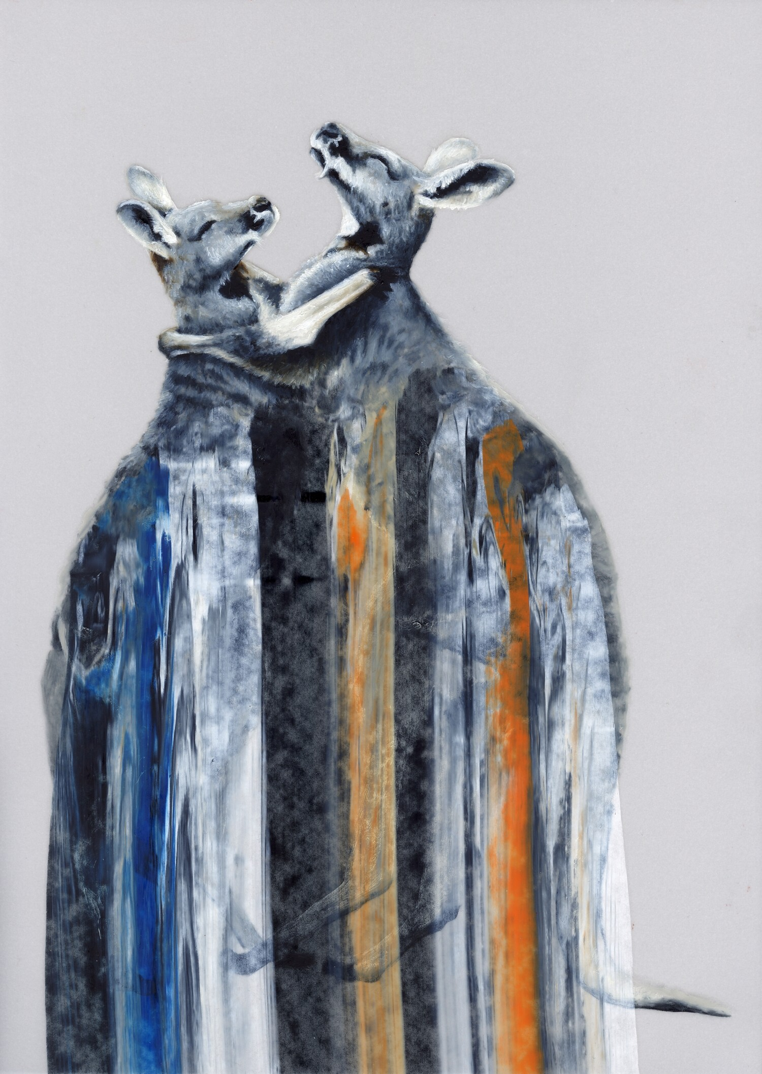 Vellum 15#2011, 29,7 x 21 cm, Öl auf Transparentpapier