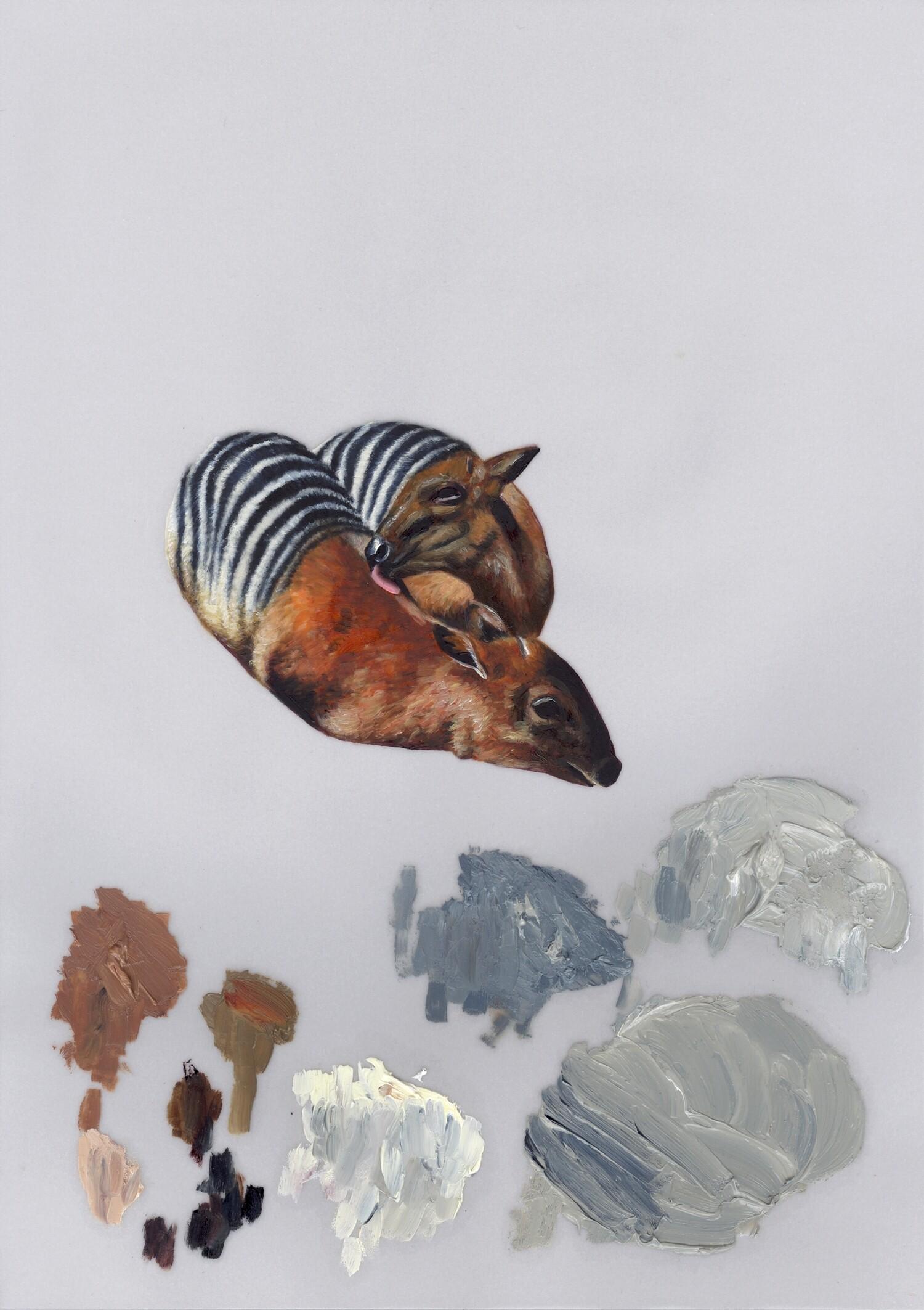 Vellum 03#2012, 29,7 x 21 cm, Öl auf Transparentpapier