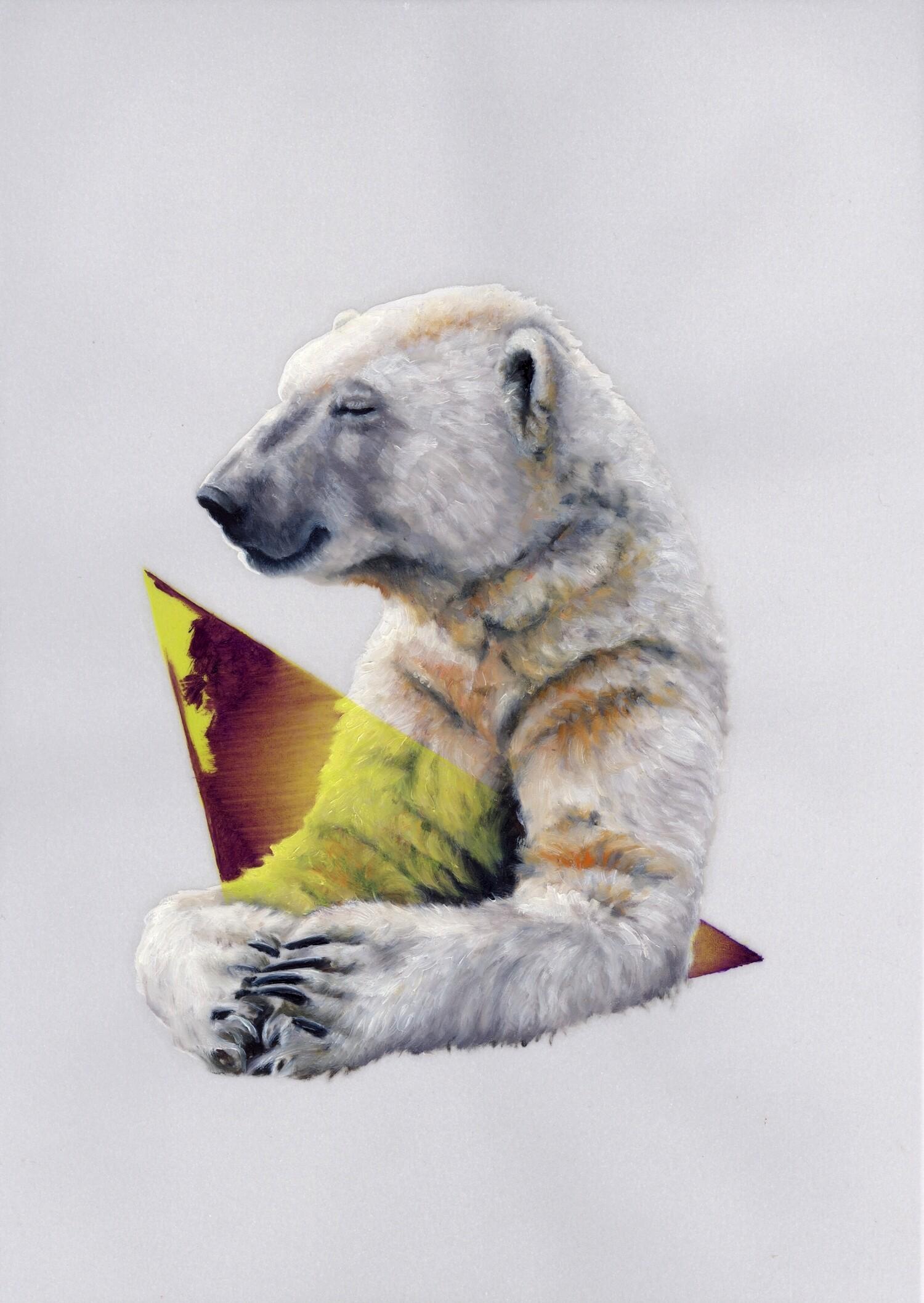 Vellum 19#2012, 29,7 x 21 cm, Öl auf Transparentpapier