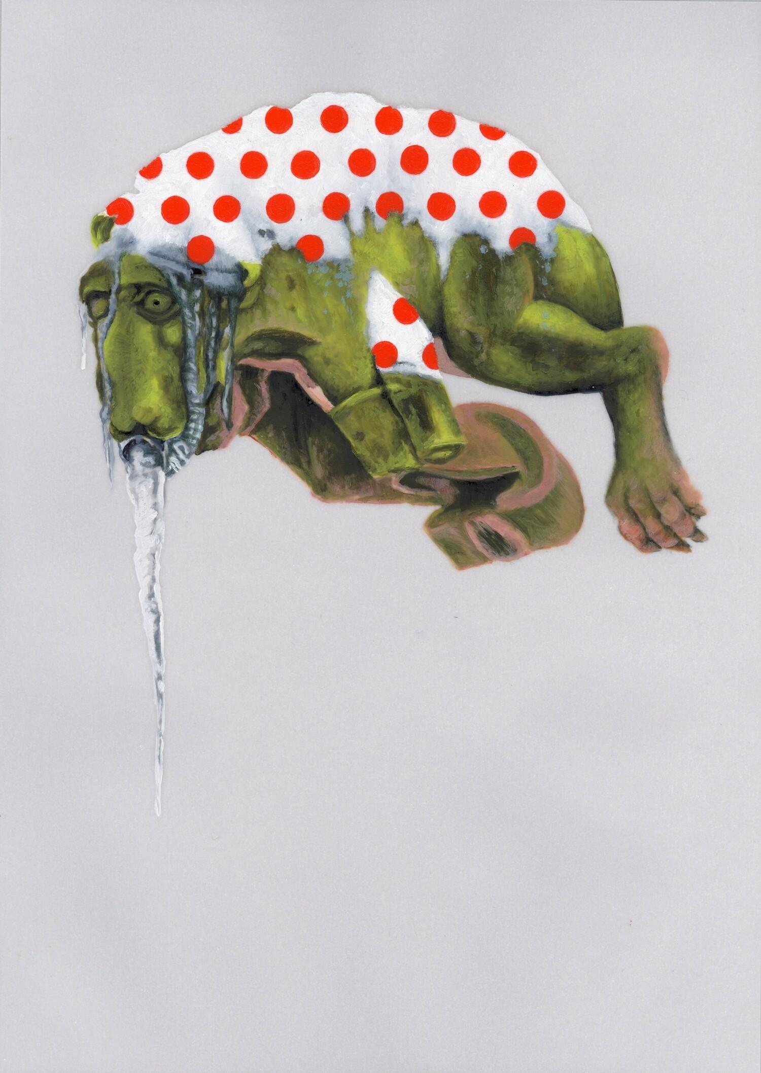 Vellum 20#2012, 29,7 x 21 cm, Öl auf Transparentpapier
