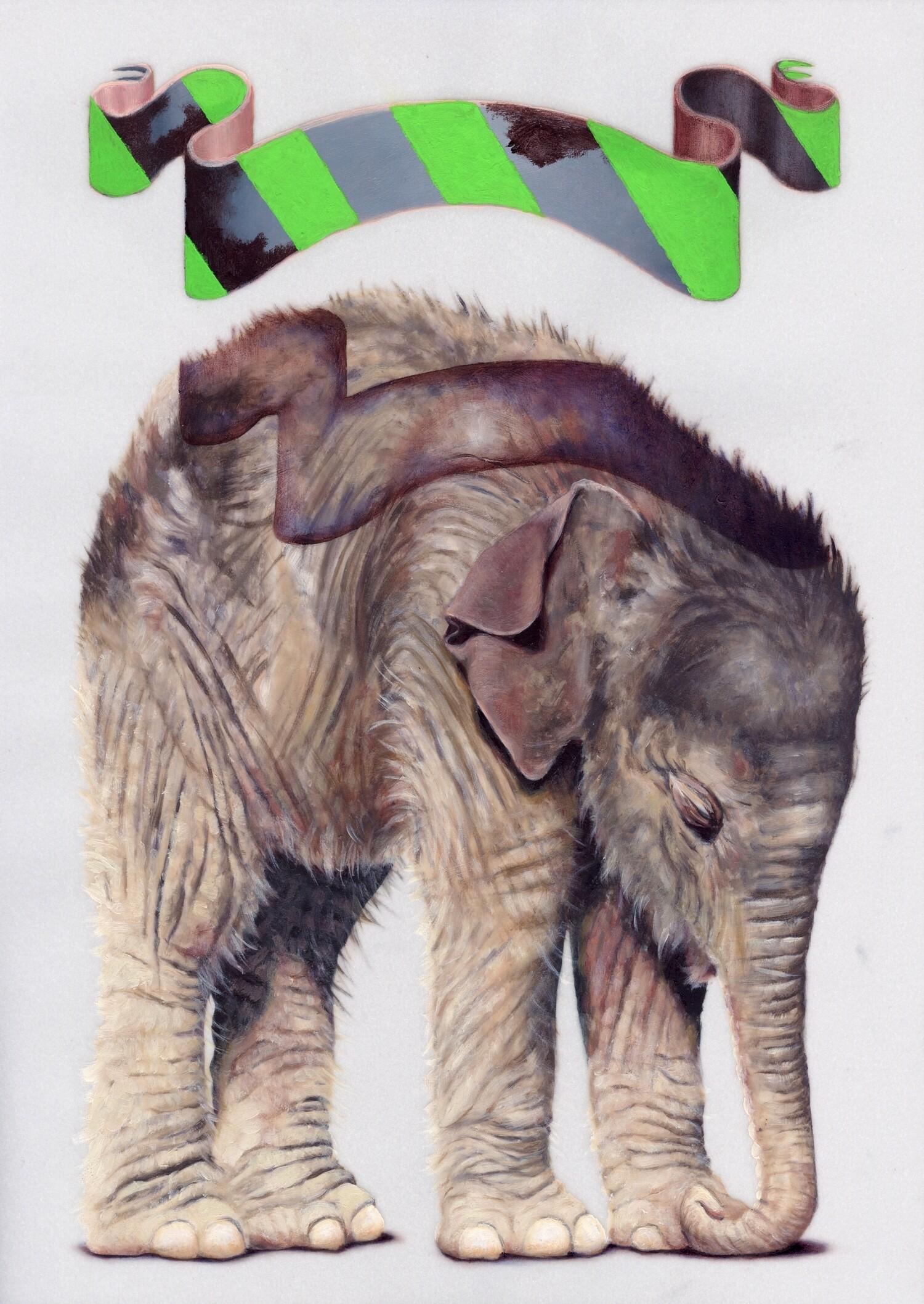 Vellum 24#2012, 29,7 x 21 cm, Öl auf Transparentpapier