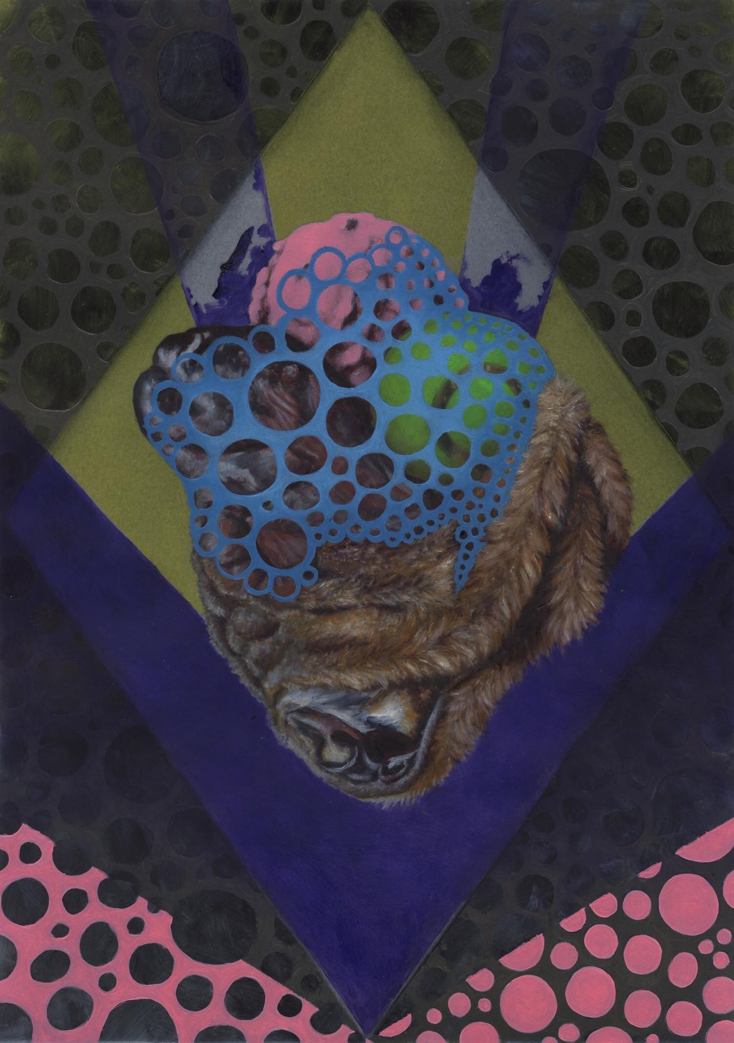 Vellum 18#2013, 29,7 x 21 cm, Öl auf Transparentpapier