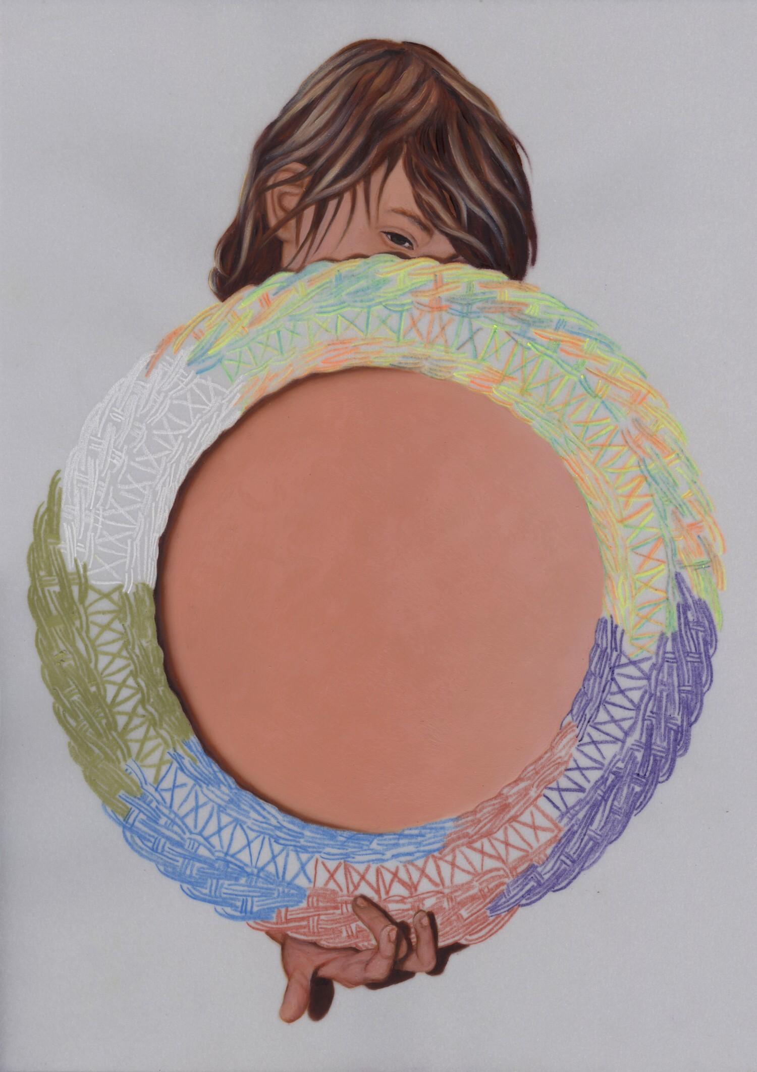 Vellum 27#2013, 29,7 x 21 cm, Öl auf Transparentpapier