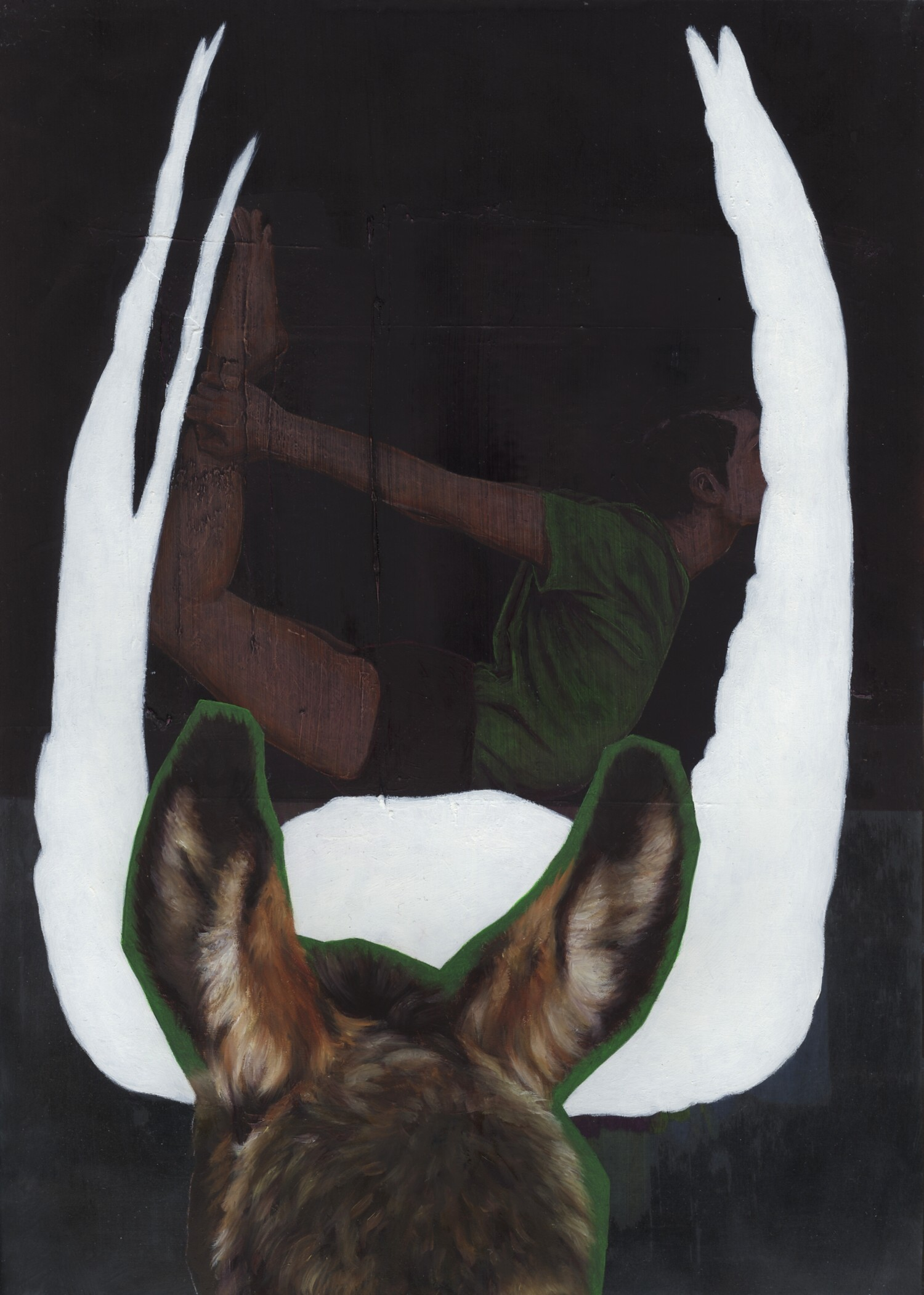 Vellum 34#2013, 29,7 x 21 cm, Öl auf Transparentpapier