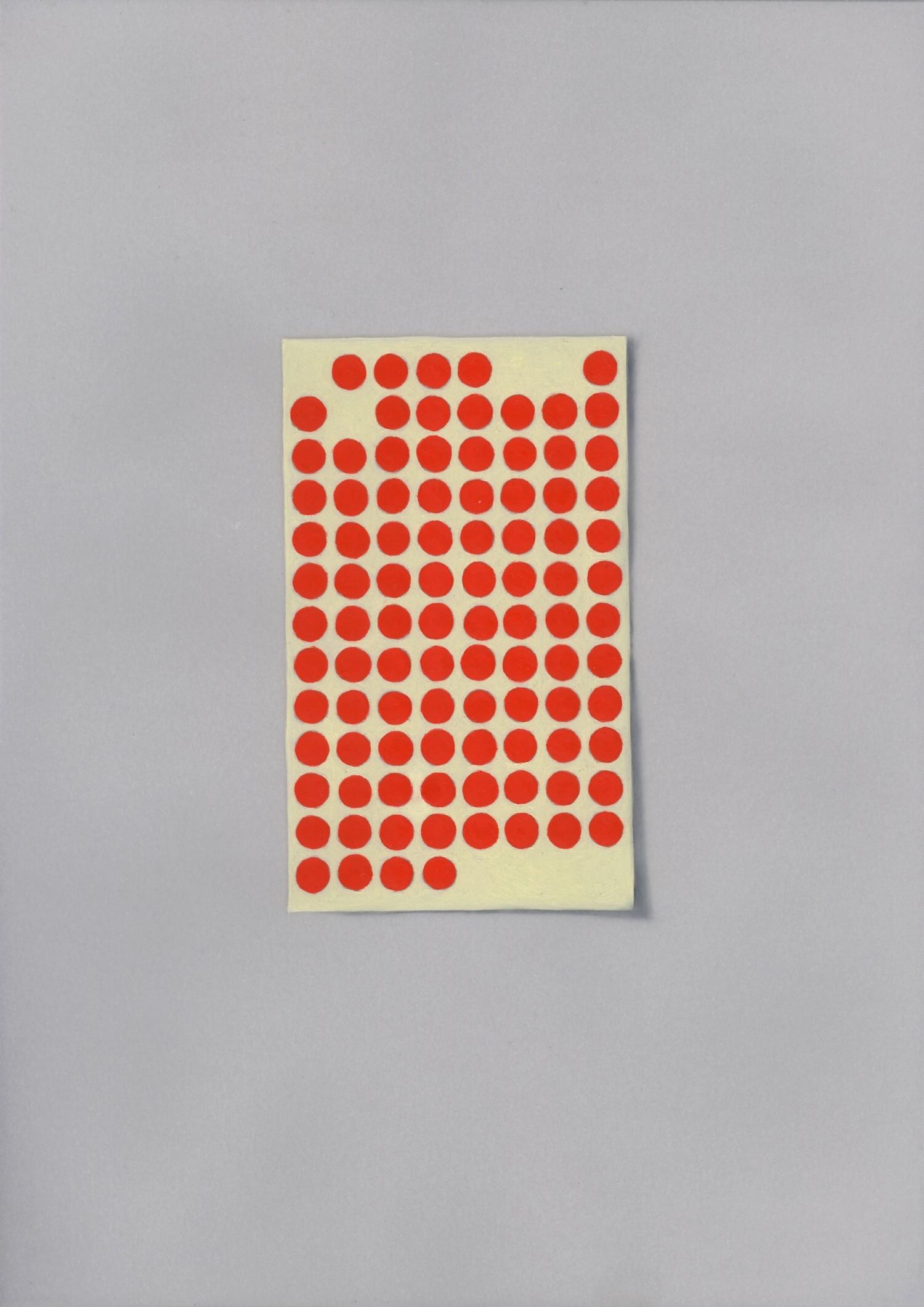 Vellum 36#2013, 29,7 x 21 cm, Öl auf Transparentpapier
