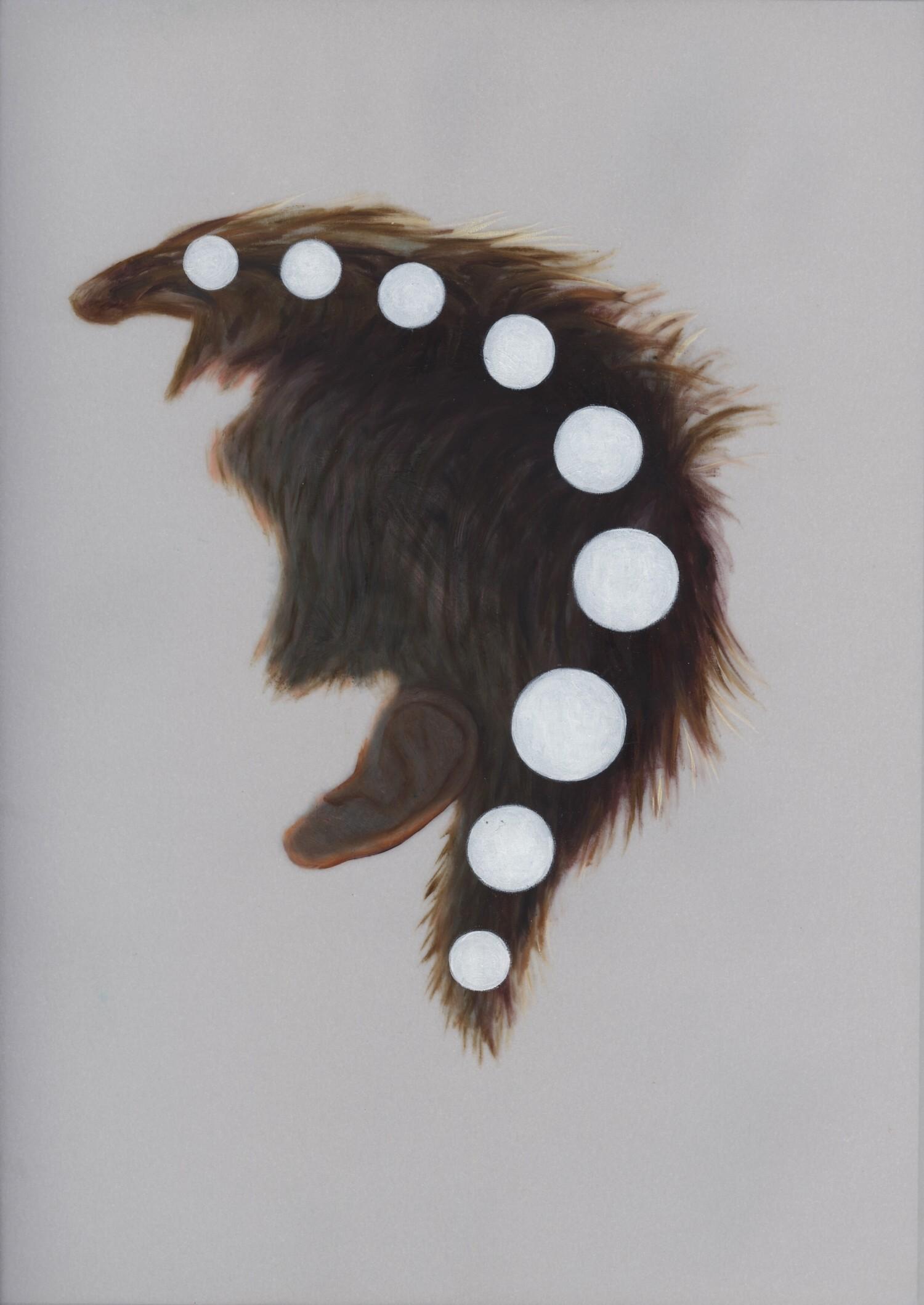 Vellum 38#2013, 29,7 x 21 cm, Öl auf Transparentpapier