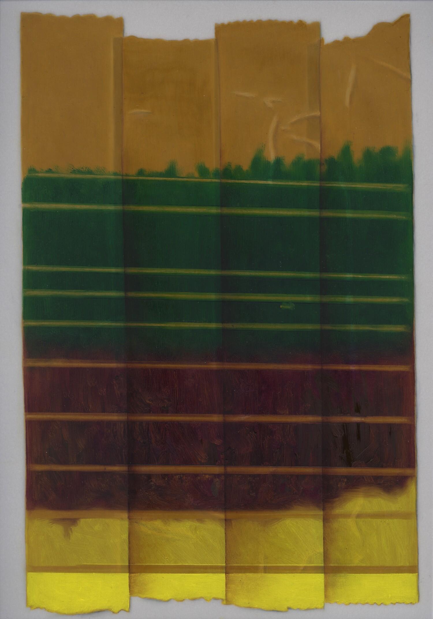 Vellum 39#2013, 29,7 x 21 cm, Öl auf Transparentpapier