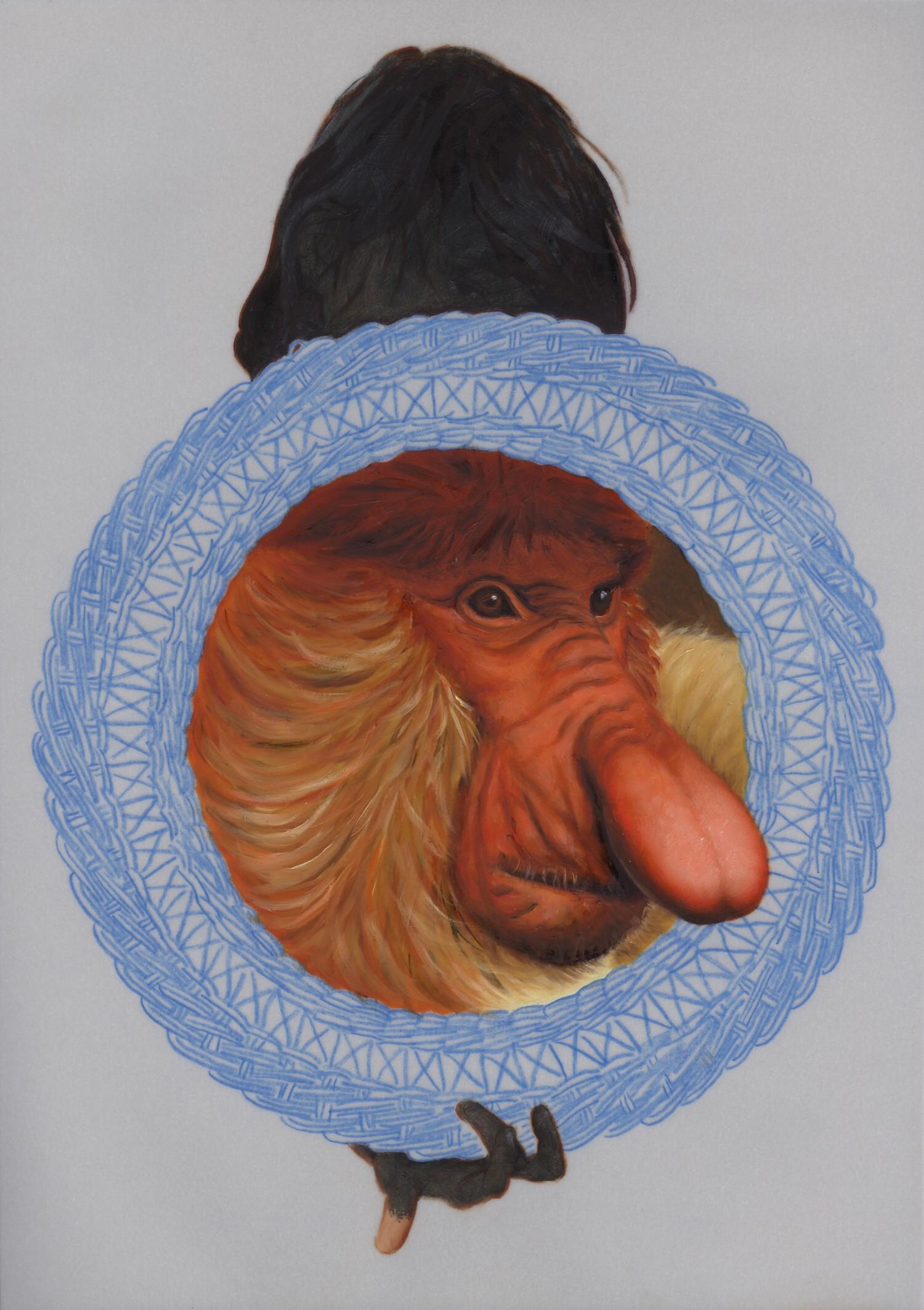 Vellum 41#2013, 29,7 x 21 cm, Öl auf Transparentpapie