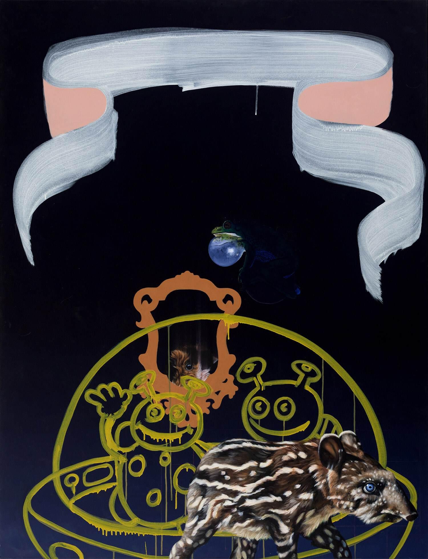 """""""Große Glocke"""" 2016, 130 x 100 cm, Öl auf Nessel"""
