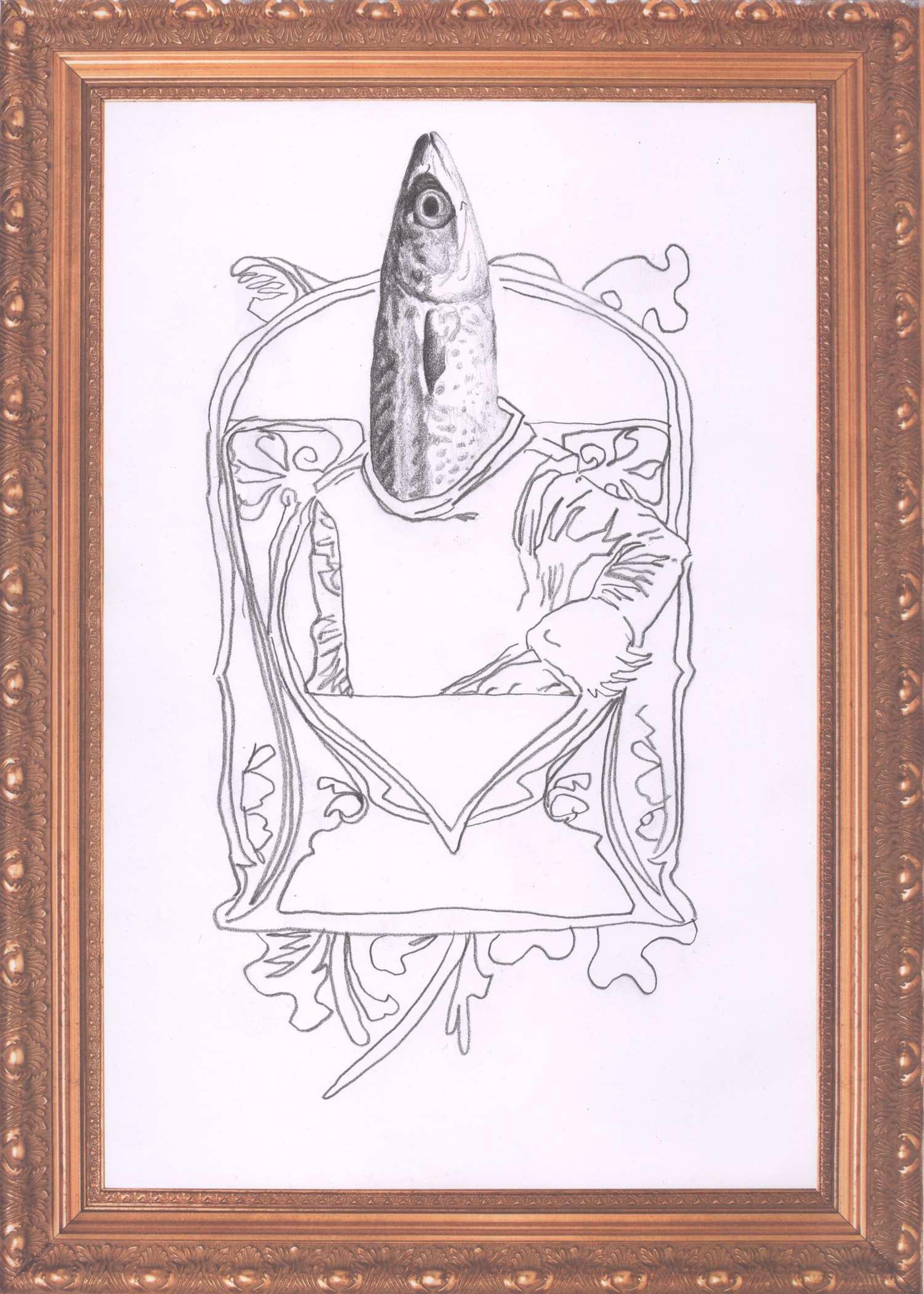 o.T. #03  2018, 29,7 x 21 cm, Graphit auf Papier