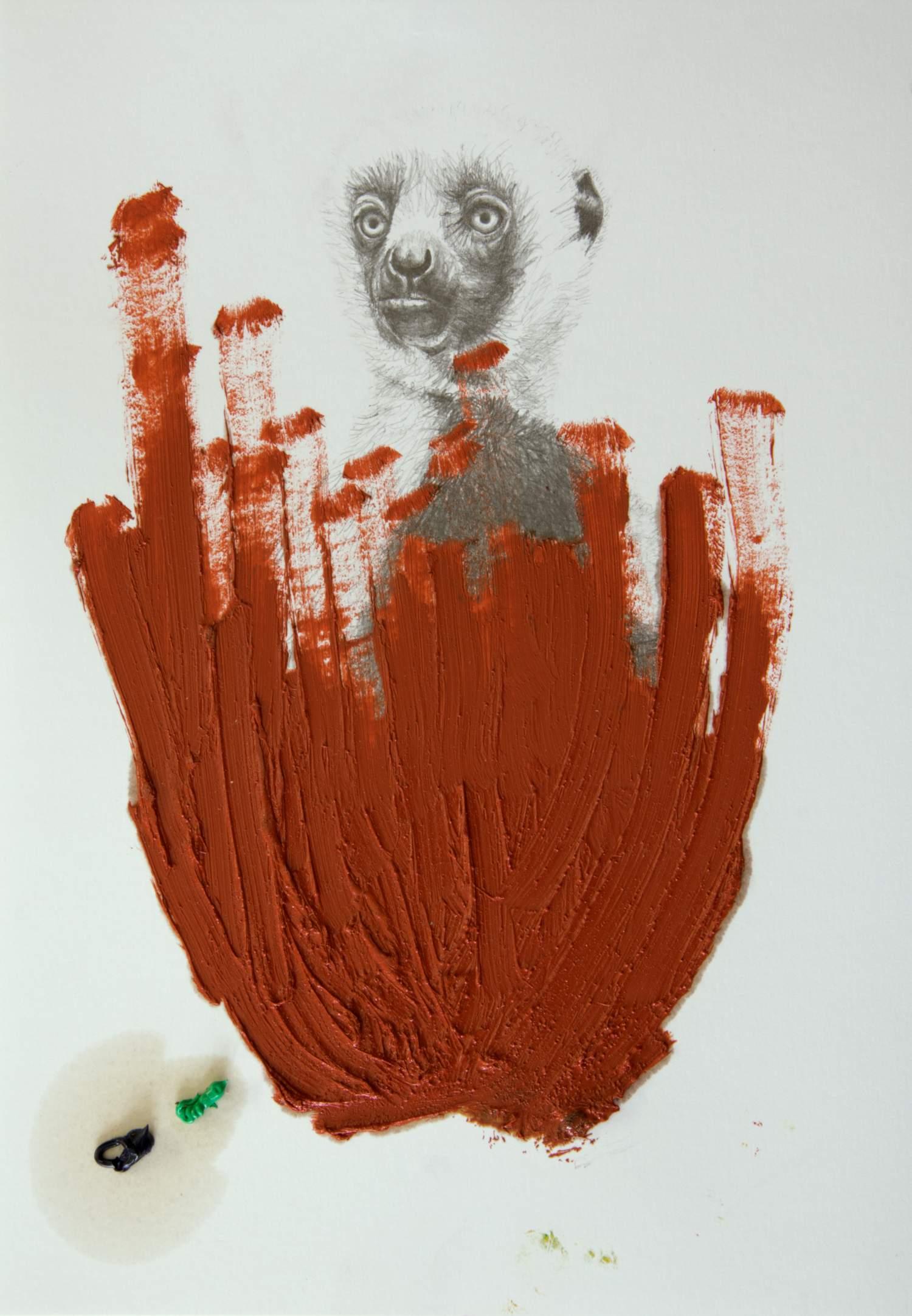 Sirblot #04 2015, 29,7 x 21 cm, Öl und Graphit auf Papier