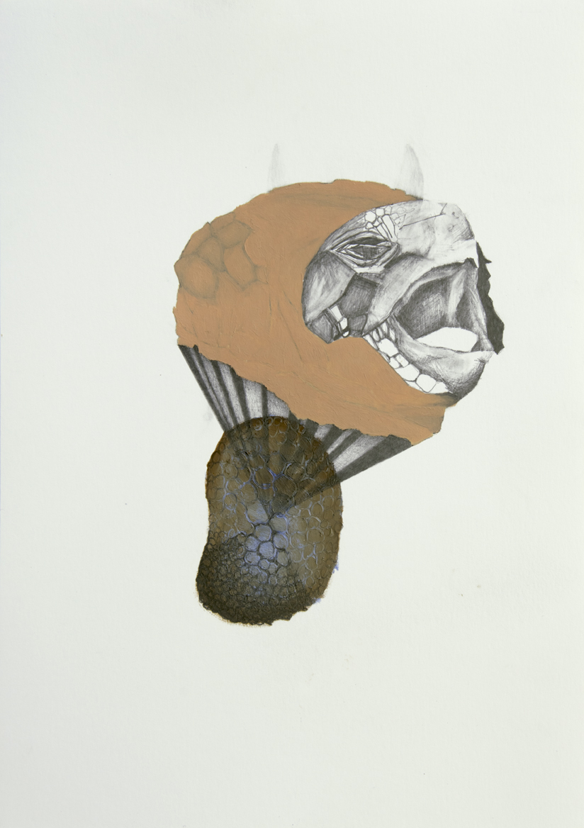 Sirblot #02 2015, 29,7 x 21 cm, Öl und Graphit auf Papier
