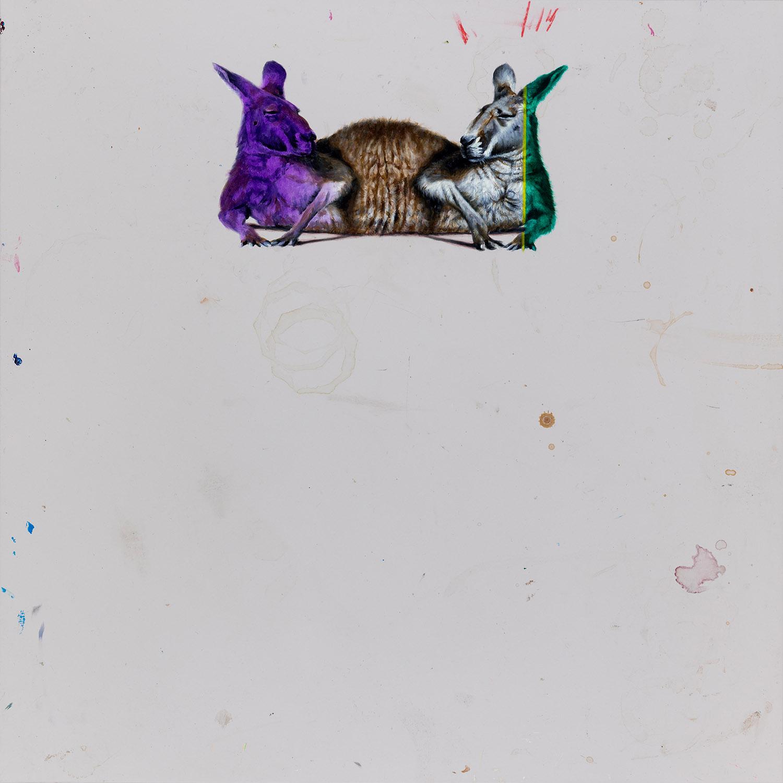 """01#2018 aus der Serie """"Tafelbilder"""", 55 x 55 cm, Öl auf MDF"""