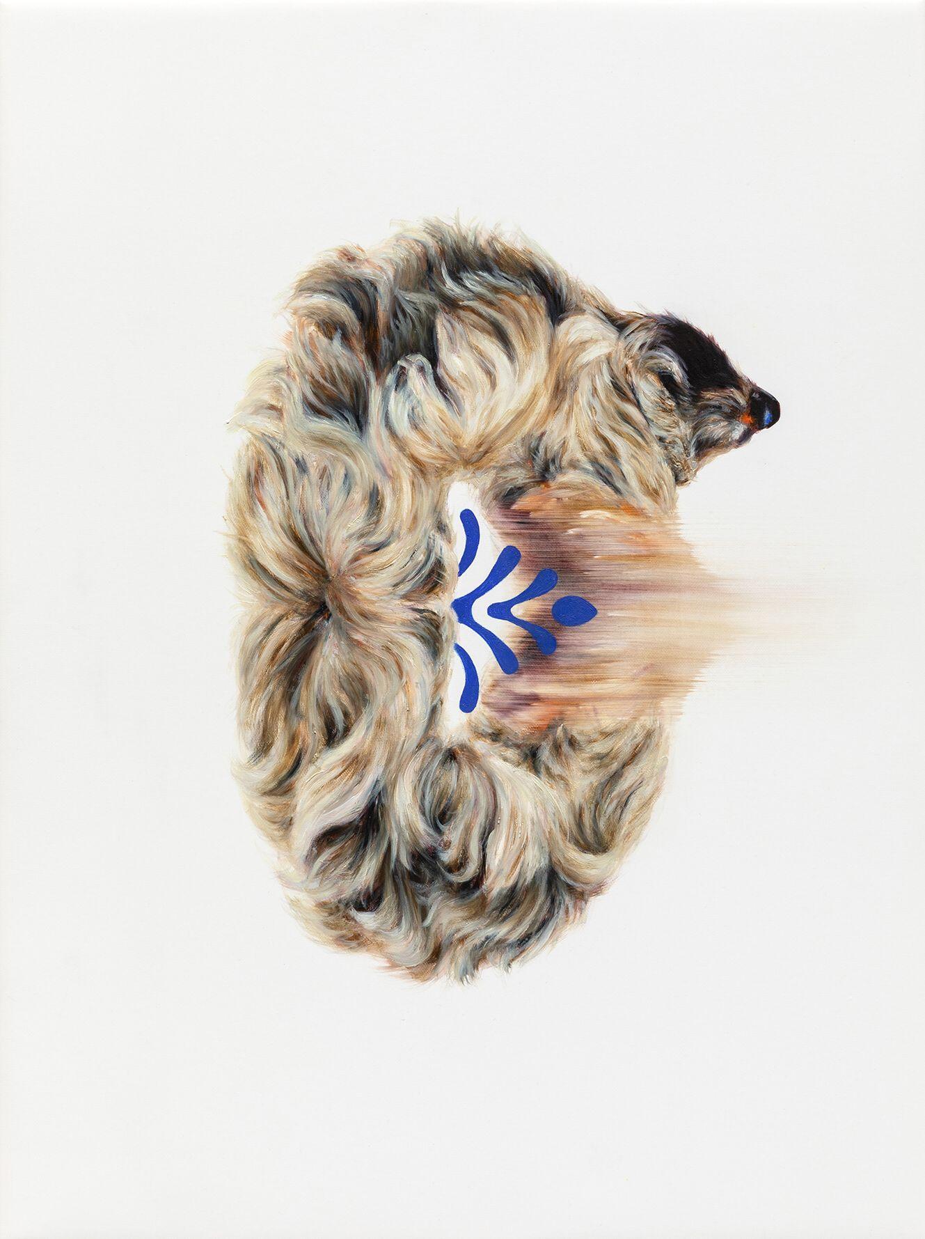 """04#2019 aus der Serie """"Polymonos"""", 40 x 30 cm, Öl auf Polyester"""
