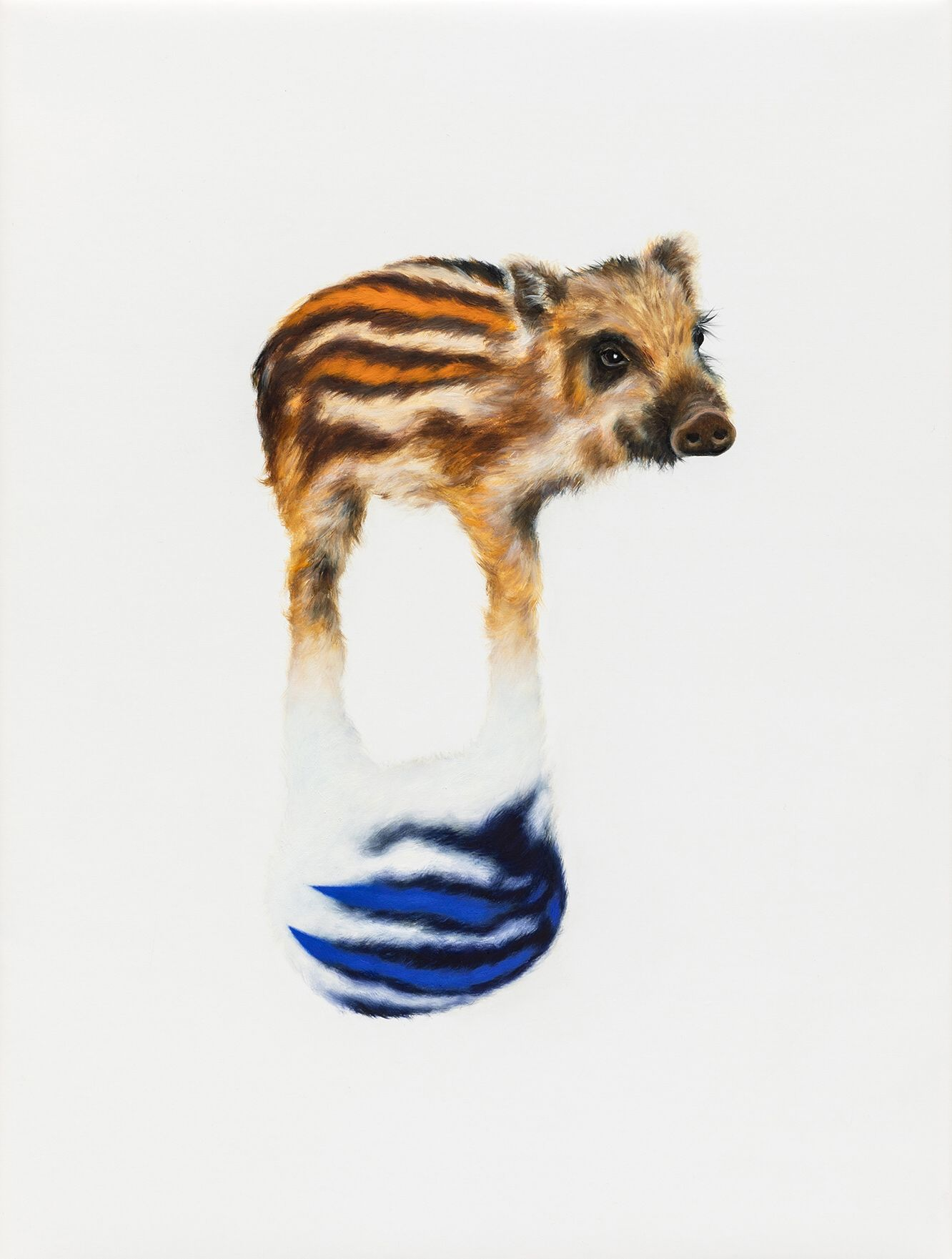 """05#2019 aus der Serie """"Polymonos"""", 40 x 30 cm, Öl auf Polyester"""