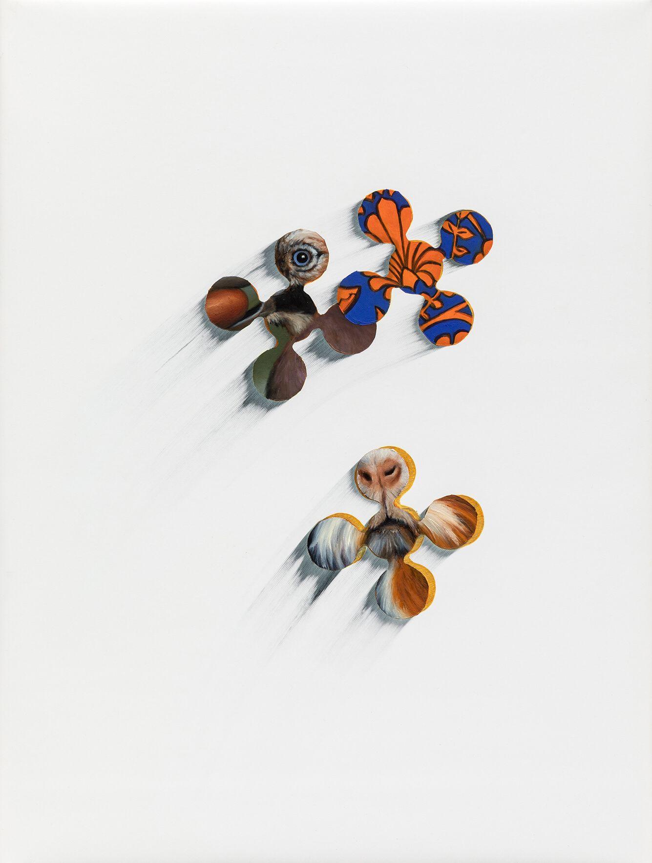 """06#2019 aus der Serie """"Polymonos"""", 40 x 30 cm, Öl auf Polyester"""