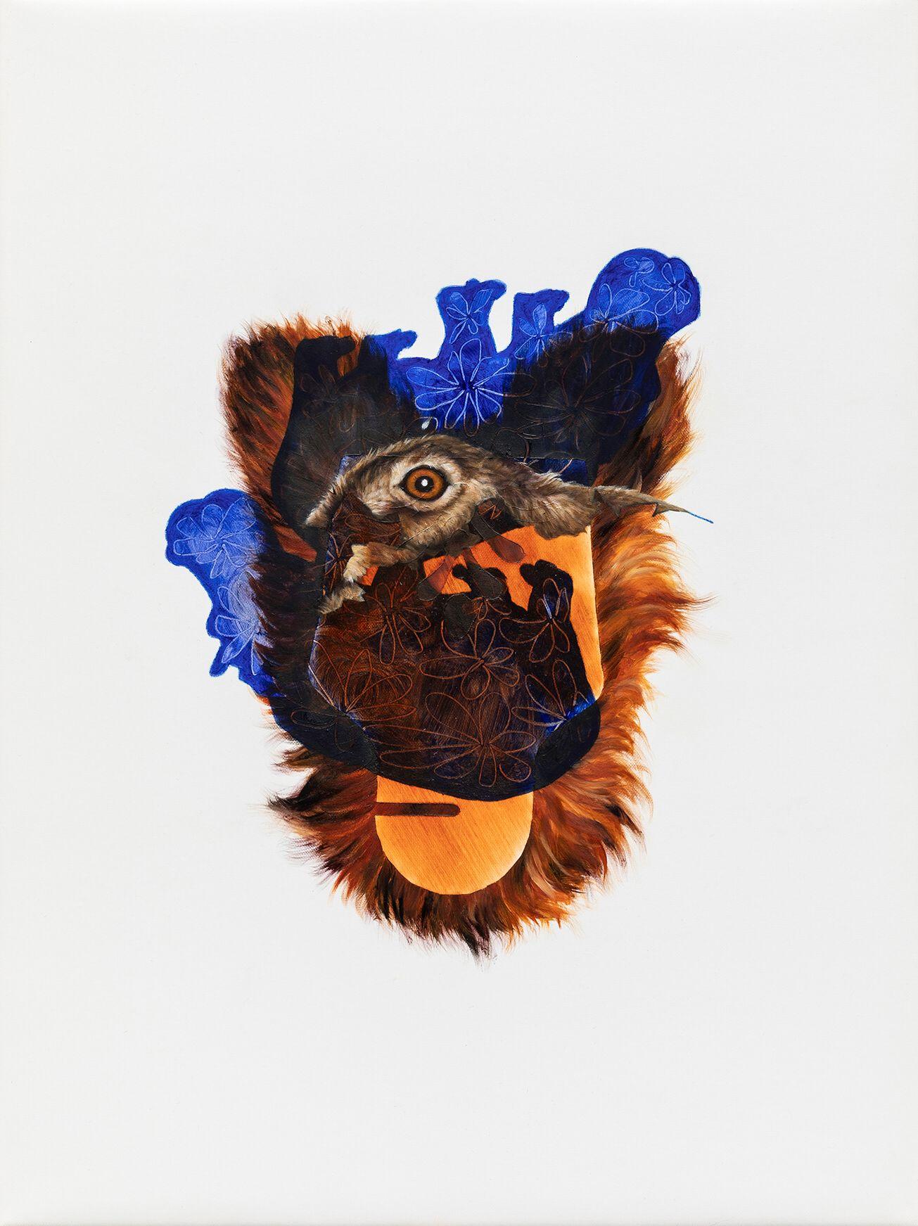 """07#2019 aus der Serie """"Polymonos"""", 40 x 30 cm, Öl auf Polyester"""