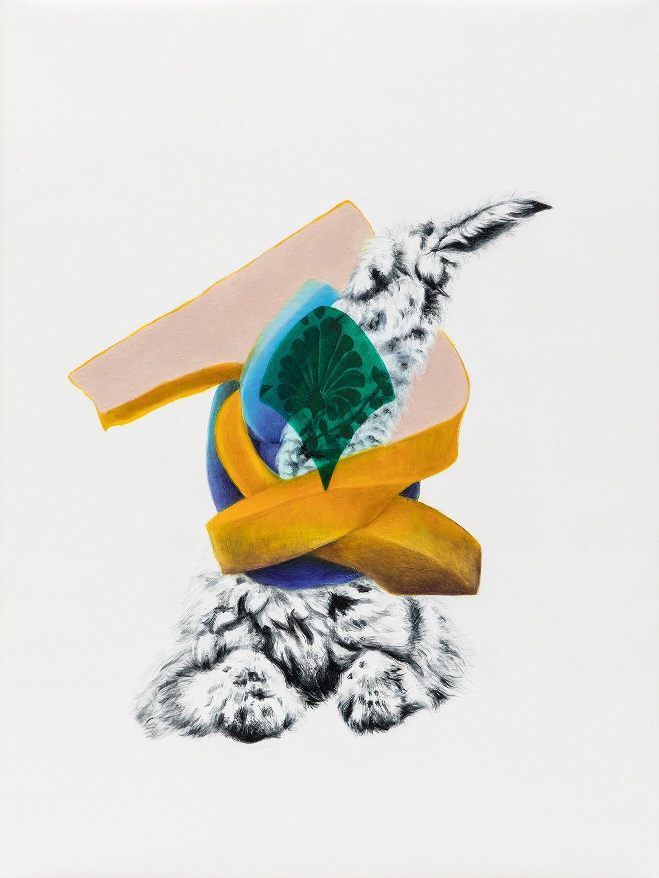 """08#2019 aus der Serie """"Polymonos"""", 40 x 30 cm, Öl auf Polyester"""