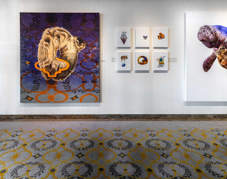 Installationsansicht Galerie im Elysée