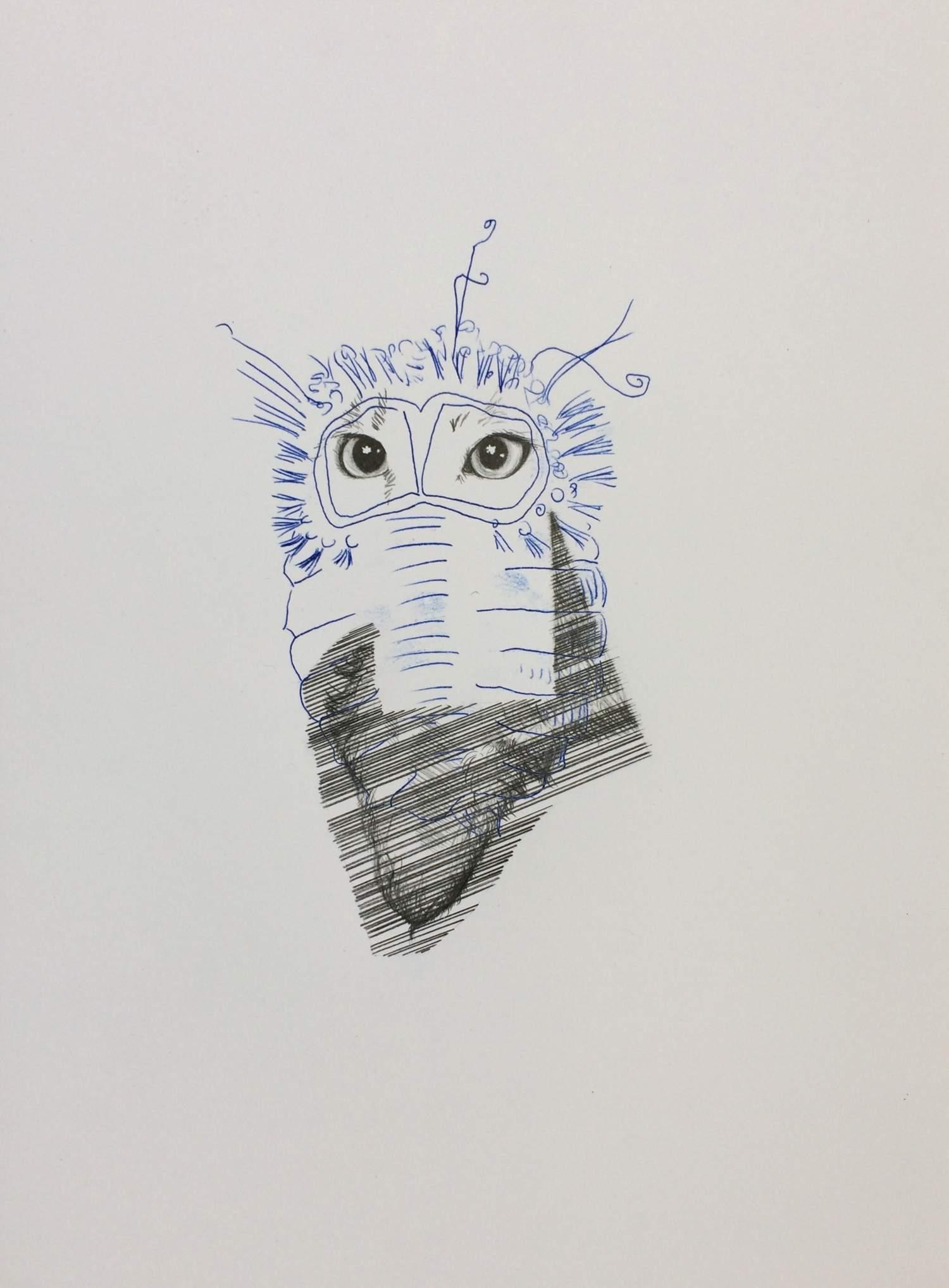 06#2019, Graphit und Intercopy auf Papier, 40 x 30 cm