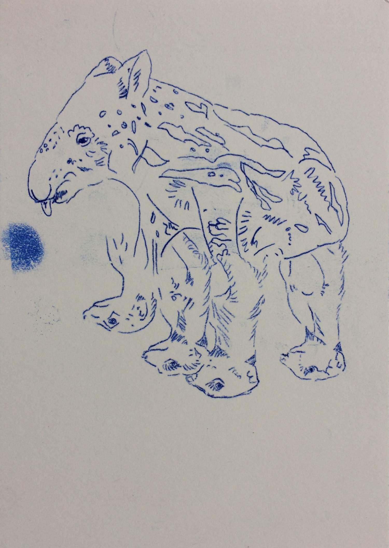 """06#2019 aus der Serie """"Plenticopy"""" Kohlepapier-Durchzeichnung auf Papier, 29,7 x 21 cm"""