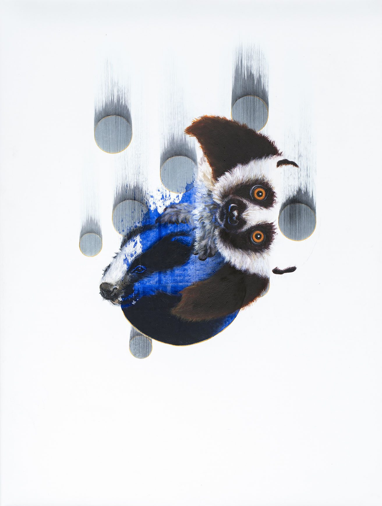 """09#2020 aus der Serie """"Polymonos"""", 40 x 30 cm, Öl auf Polyester"""